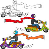 Dude on Motorcycle Royalty Free Stock Photography