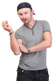 Dude snapping fingers Stock Photo