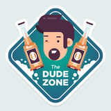 Dude-zone copy Stock Images