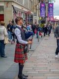 Dudelsackspieler, Buchanan-Straße, Glasgow Lizenzfreie Stockfotografie