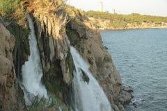 duden водопад индюк antalya Среднеземноморской seashore Стоковое Фото