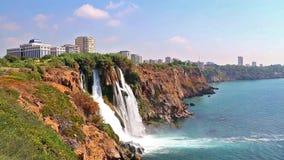 Duden vattenfall i Antalya Turkiet lager videofilmer