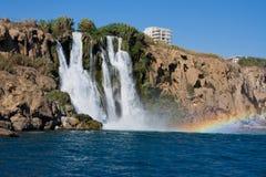 The Duden waterfall. In Antalya. Turkey Royalty Free Stock Photography