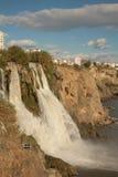 Duden waterfall. And cascade at Antalya Turkey Stock Images