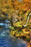 Duden waterfall. And cascade at Antalya Turkey Royalty Free Stock Photography