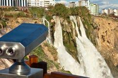 Duden waterfall. And cascade at Antalya Turkey Stock Photo