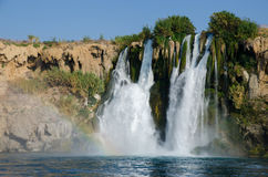 Duden Waterfall. Waterfall Duden at Antalya, Turkey Royalty Free Stock Image