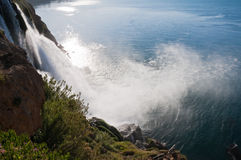 Duden waterfall in Antalya, Turkey Royalty Free Stock Photo