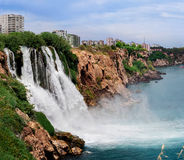Duden waterfall. In Antalya, Turkey stock photography