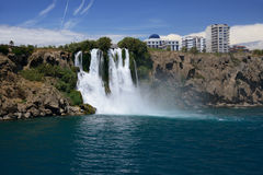 Duden waterfall in Antalya, Turkey Stock Photos