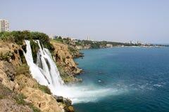 The Duden waterfall, Türkai Antalya royalty free stock photography