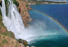 Duden Waterfalls - Antalya Stock Image