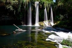 Duden Waterfalls, Antalya, Turkey. Duden Waterfall and stream on sunny day in Antalya, Turkey Royalty Free Stock Photos
