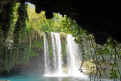 Duden waterfalls carve through karst Royalty Free Stock Photography