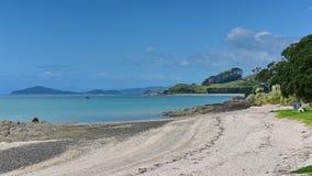 Duder Regional Park, a coastal farm park in New Zealand stock photos