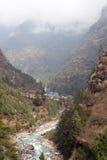 dudh Everest kosi Nepal rzeczna śladu dolina Zdjęcia Stock
