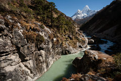 Dudh Koshi river Stock Photography