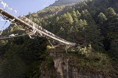 Dudh Koshi Suspension Bridge Stock Photos