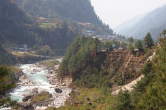 Dudh Kosi river, Everest trek, Himalayas, Nepal Royalty Free Stock Photography