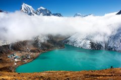 Dudh pokhari lake, gokyo Royalty Free Stock Photos