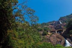 dudhsagar瀑布 库存照片