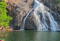 Dudhsagar Falls in India (GOA) Stock Photo