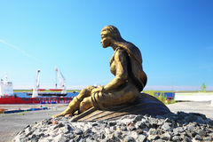 Dudinka, Russia - July 10, 2013: Sculpture of Stock Photo