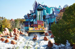 Dudley Do-Right's Ripsaw Falls in Universal Studi Royalty Free Stock Image