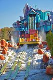 Dudley Do-Right`s Ripsaw Falls in Universal Studios, FL, USA. Dudley Do-Right`s Ripsaw Falls in the Islands of Adventure of Universal Orlando, Florida, USA stock photos