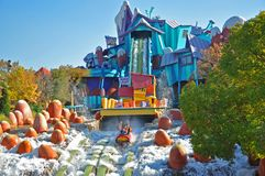 Dudley Do-Right's Ripsaw Falls in Universal Studios, FL, USA. Dudley Do-Right's Ripsaw Falls in the Islands of Adventure of Universal Orlando, Florida stock photo