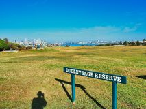 Dudley Page Reserve, Sydney, Australia. Dudley Page Reserve, Dover Heights, Sydney, NSW, Australia, a popular vantage spot with tour buses for panoramic views of stock photos