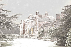 Christmas in England. An image of Dudmaston Hall, England in winter Royalty Free Stock Photography