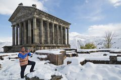 Duduk spelare i Armenien royaltyfria bilder