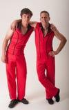 Due acrobate amichevoli Fotografia Stock Libera da Diritti