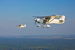 Due aerei volanti Fotografia Stock
