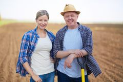 Due agricoltori Fotografie Stock