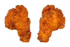Due ali di pollo della Buffalo immagine stock