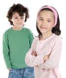 Due allievi dei bambini Fotografie Stock Libere da Diritti