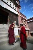 Due allievi tibetani della lama Fotografia Stock
