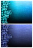 Due ambiti di provenienza futuristici Fotografie Stock Libere da Diritti