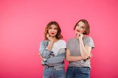 Due amici allegri delle donne Fotografia Stock Libera da Diritti