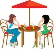 Due amici in caffè illustrazione vettoriale