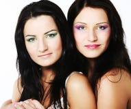 Due amici di ragazza che sorridono insieme Fotografia Stock