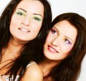 Due amici di ragazza che sorridono insieme Fotografie Stock