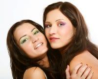 Due amici di ragazza che sorridono insieme Fotografia Stock Libera da Diritti