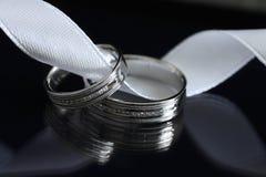 Due anelli di cerimonia nuziale Immagini Stock Libere da Diritti