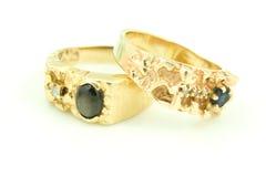 Due anelli di cerimonia nuziale. Fotografia Stock Libera da Diritti