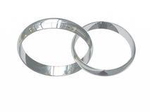 Due anelli di cerimonia nuziale del platino Immagine Stock Libera da Diritti