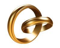 Due anelli di oro Fotografia Stock Libera da Diritti
