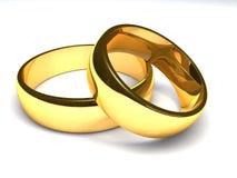 Due anelli dorati Fotografie Stock